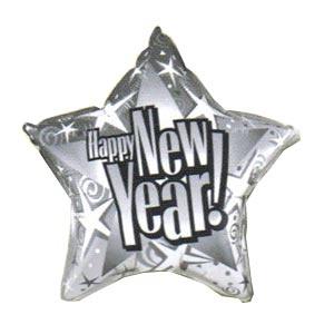 """New Year! Starblast Prism 20"""" Mylar Balloon"""