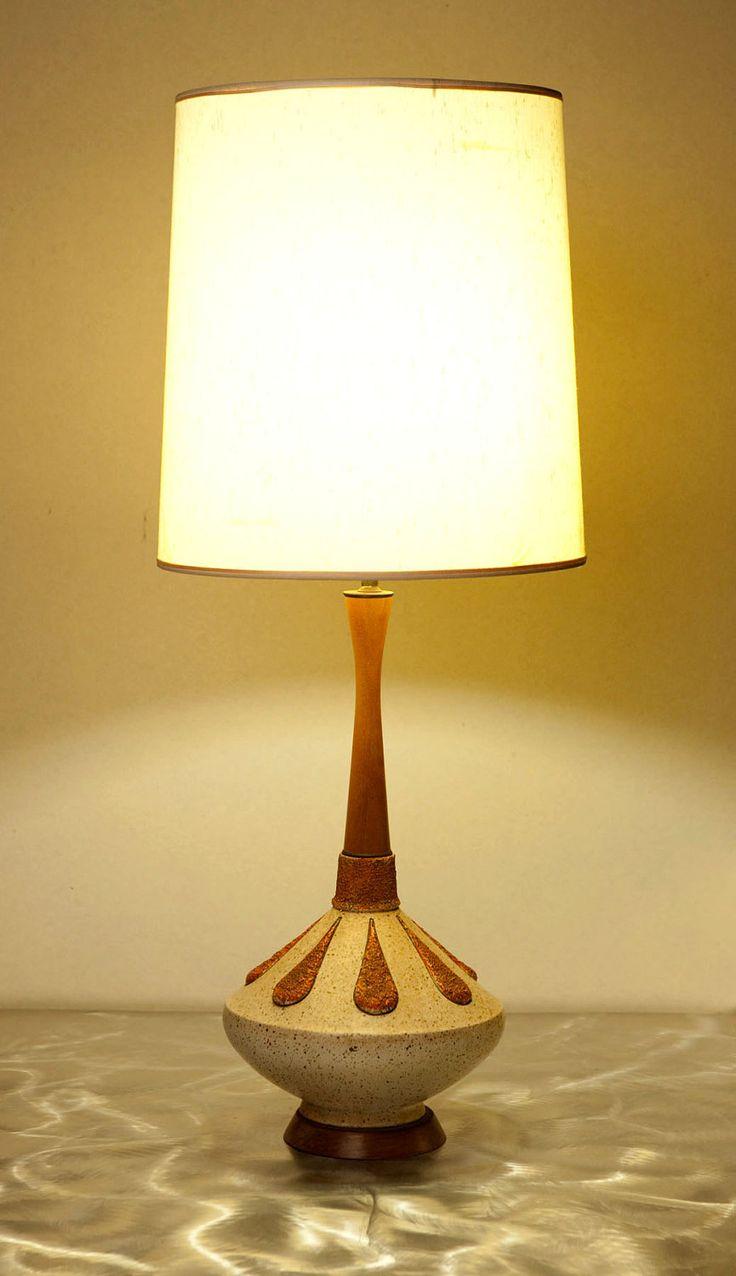 Stunning Mid Century Modern Genie Bottle Table Lamp With