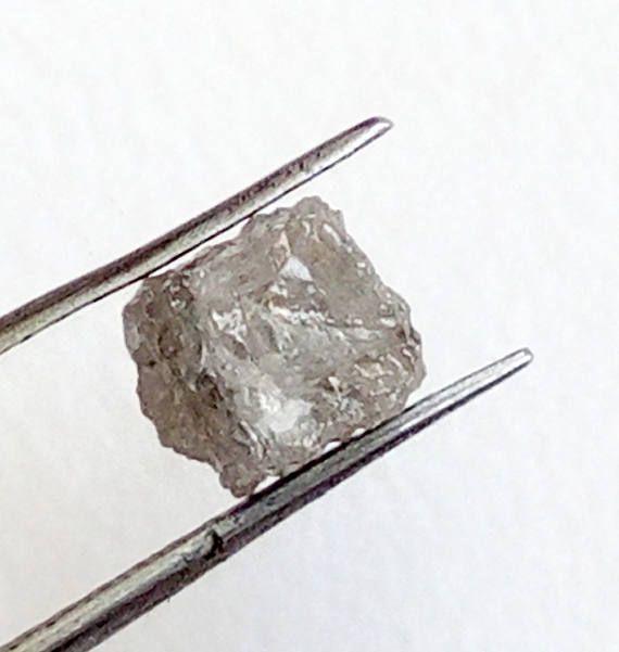 1 Pc 5mm Grey Rough Diamond Cube Grey Diamonds Loose