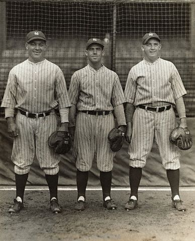 The catchers (L-R): Pat Collins, Benny Bengough and John Grabowski
