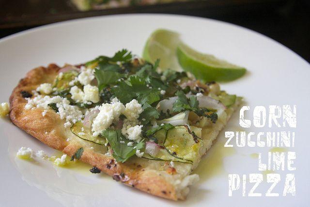 Corn Zucchini Lime Pizza: Summer Pizza, Zucchini Corn, Pizza Ideas, Pizza Dough, Pizza Night, Zucchini Limes, Corn Zucchini, Summer Recipes, Limes Pizza