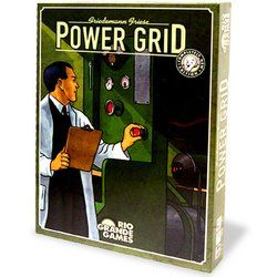 Power Grid. The object of Power Grid is to supply the most cities with power when someone's network gains a predetermined size. Vie against other players to purchase the power planets that you use to supply the power. This family strategy board game is for 2 to 6 players. Takes about two hours to play.