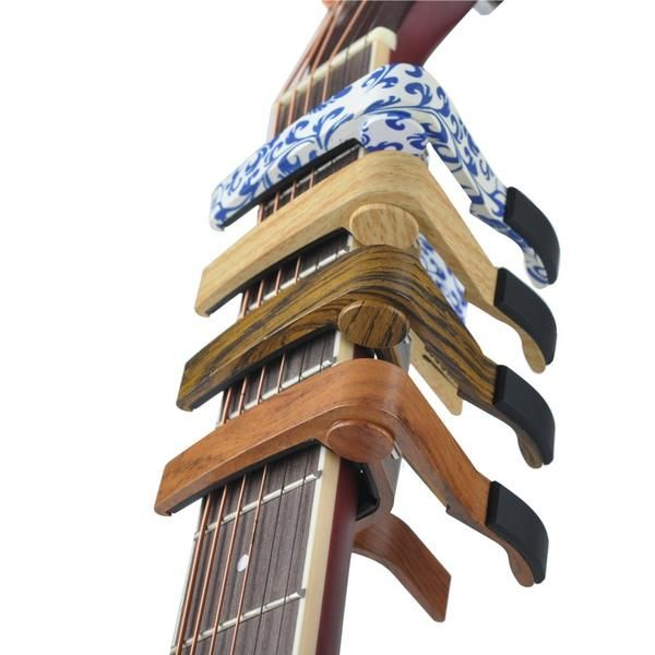 Aluminium Alloy Wooden Design Guitar Capo For Acoustic And Electric Guitars Regular Price 12 90 Usd Guitar Capo Guitar Tuning Acoustic Guitar Strings