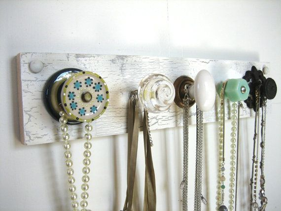 Wall Mounted Jewelry Organizer / Scarf Holder