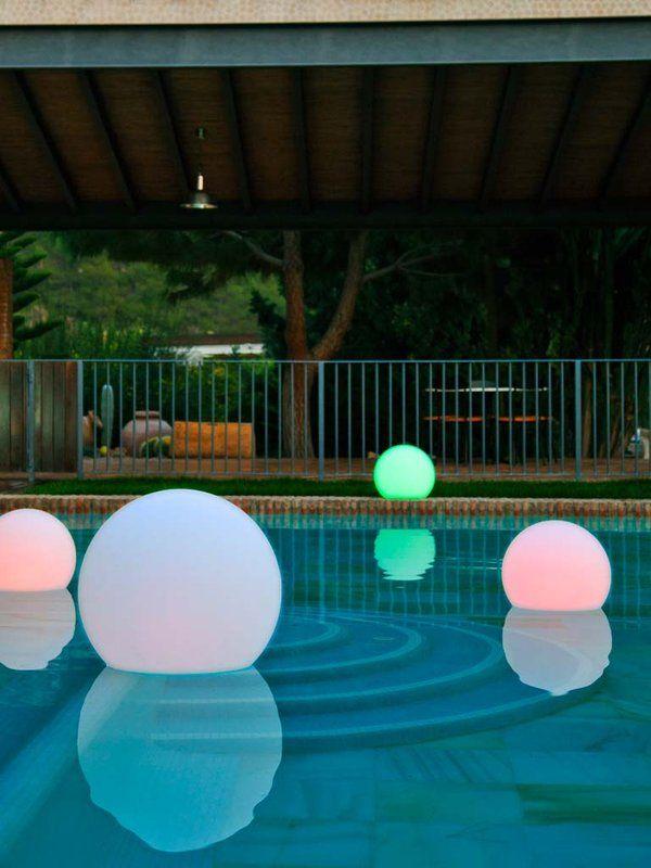 Mejores 10 im genes de fuentes y luces para piscinas en for Luces piscinas