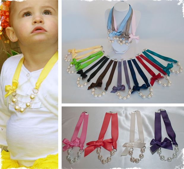 cute and easy necklace for little girls -