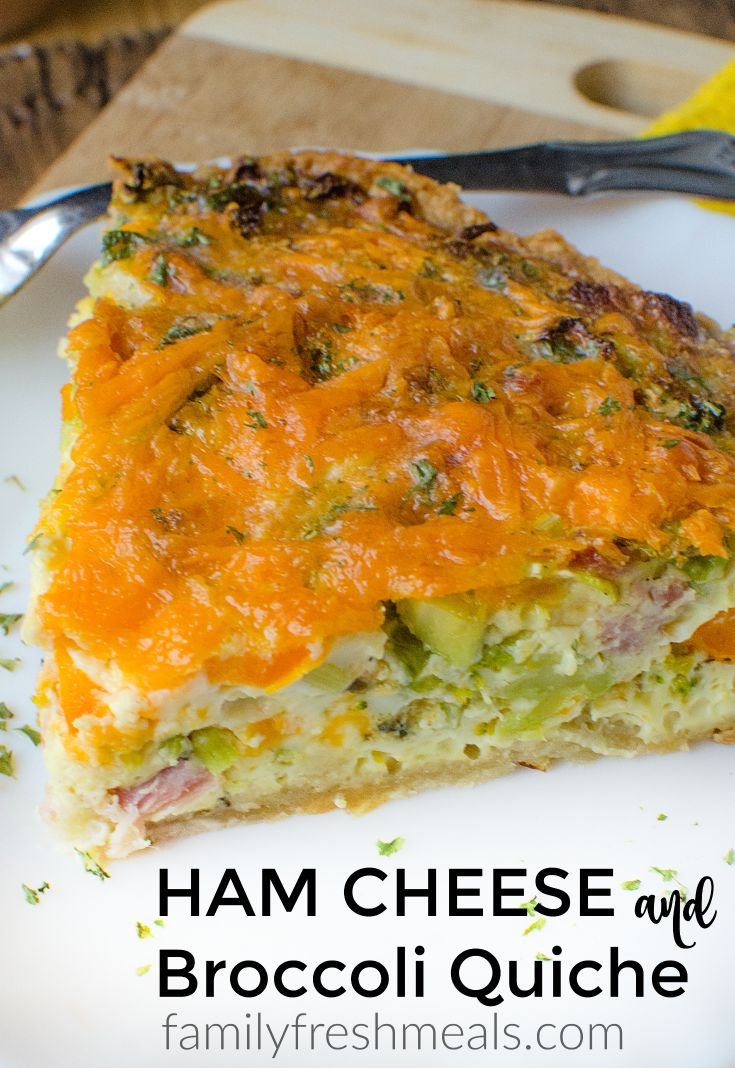 In fact, this Ham Cheese and Broccoli Quiche is so good, you might start buying ham even when you don't have lots of guests, just so you can make it.