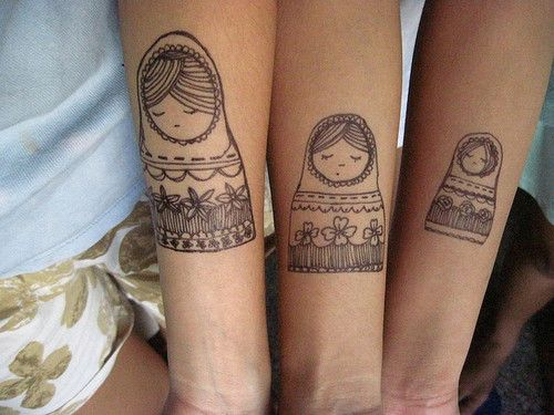 Matryoshkas! Sister tattoos. 74 Matching Tattoo Ideas To Share With Someone You