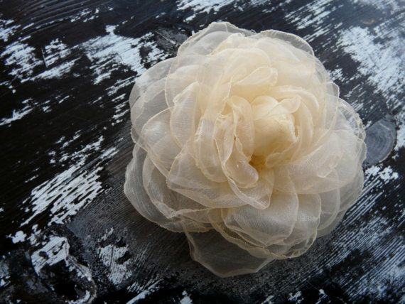 Champagne Wedding Hair Accessory Ivory Hair by TwoCatsAndAnOwl, $24.00