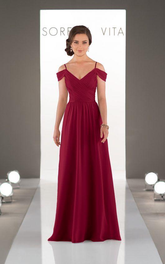 Cranberry bridesmaids dress