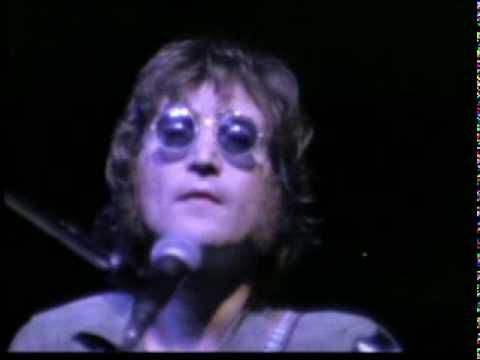 Brought up by his Aunt Mimi John Lennon's Mother was still a big influence on his #art #life and #music. This is John Lennon in Madison Square Garden performing 'Mother'