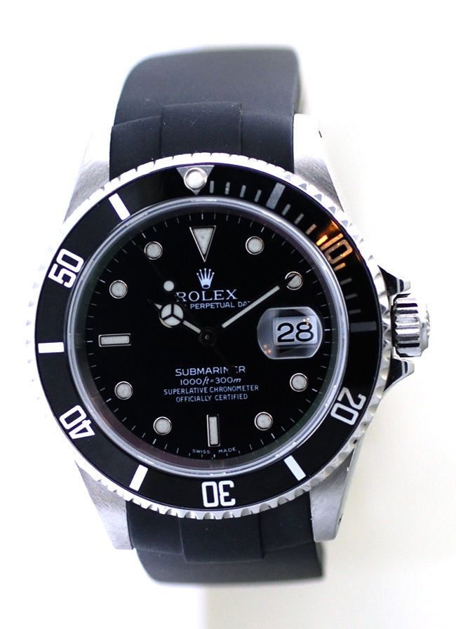 Rolex 16610 Submariner Watch Mens,With Black Dial Original Rolex Box & Papers #Rolex #Dress