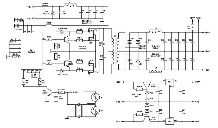 The main part of any amplifier is the power supply. It is
