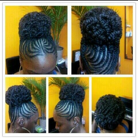 Pleasant 1000 Images About Cornrows On Pinterest Cornrow Natural Updo Short Hairstyles Gunalazisus