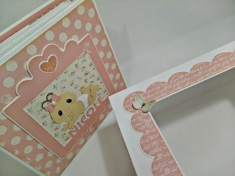 Album da Nicole (Scrapbooking Baby Girl Album) - YouTube