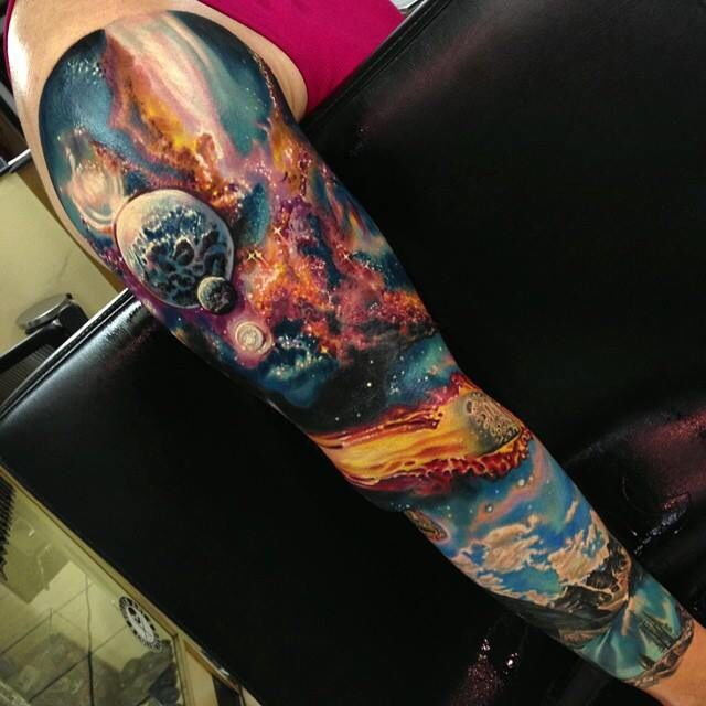 75 universe tattoo designs for men matter and space - 17 Best Images About Tattoo Ideas The Creation Beginning