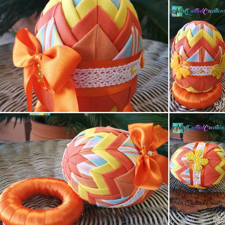 """35 """"Μου αρέσει!"""", 4 σχόλια - Ada Quilted Creations (@adaquiltedcreations) στο Instagram: """"My first decorative easter egg for this year in orange and yellow tones!. Getting ready for…"""""""