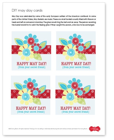 Free printable tags to use on May Day Baskets #IvoryBloom