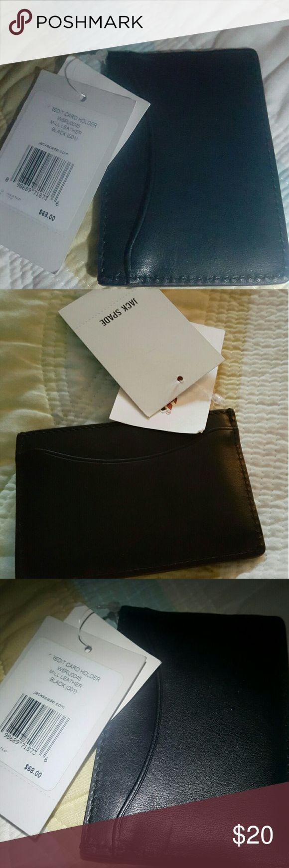 Jack Spade  (Kate Spade) black leather credit card Jack Spade  (Kate Spade) black leather credit card holder Jack Spade Accessories Key & Card Holders