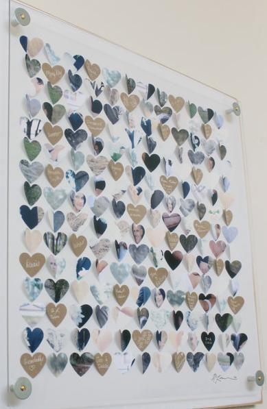 Gästebuch - jeder Gast hinterlässt eine Nachricht, kann durch Bilder der Hochzeit ergänzt werden