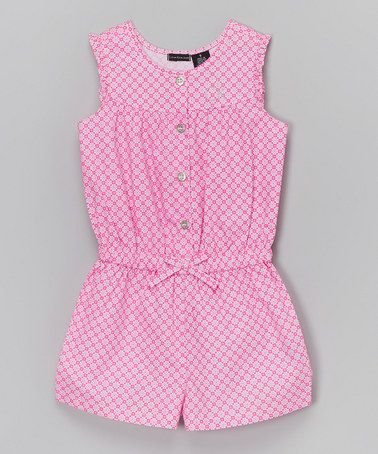 Look what I found on #zulily! Pink Floral Bow Romper - Infant & Girls #zulilyfinds