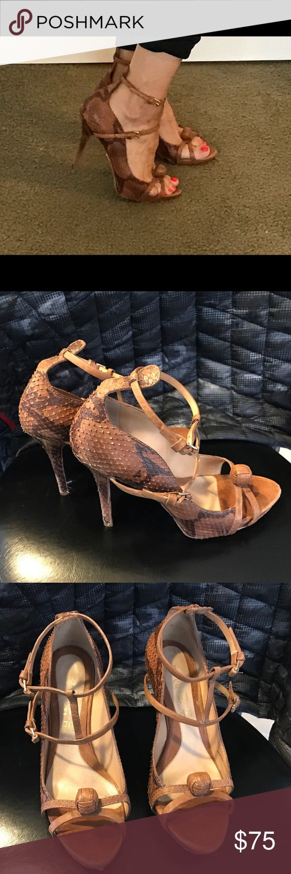 Lamb python heels Beautiful heels that look amazing with everything and every time I have worn them I always get compliments. LAMB Shoes Heels
