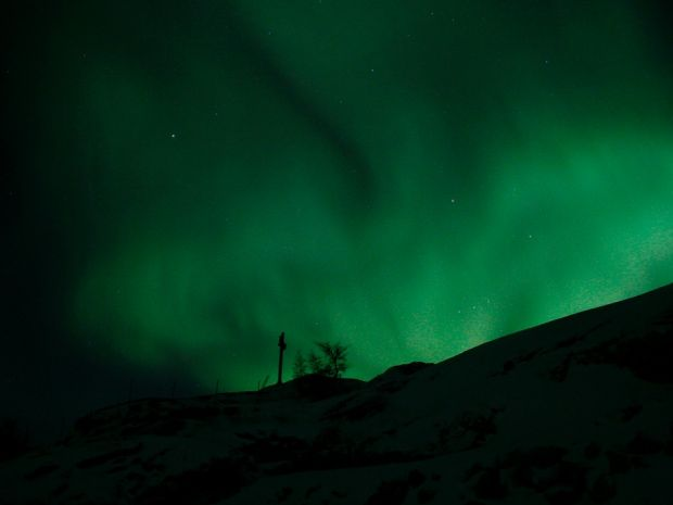 Spectacular Northern Lights were captured by Kuujjuaq resident Shawn Schliep overnight between March 19 and 20.