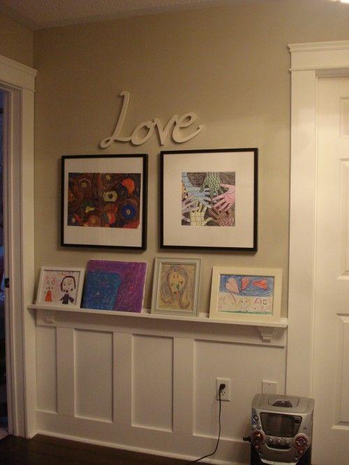LoVe: Decor Ideas, Hallways, Kids Rooms Design, Design Ideas, Shelves, Pictures, Study Rooms, Families Rooms, Kids Artworks