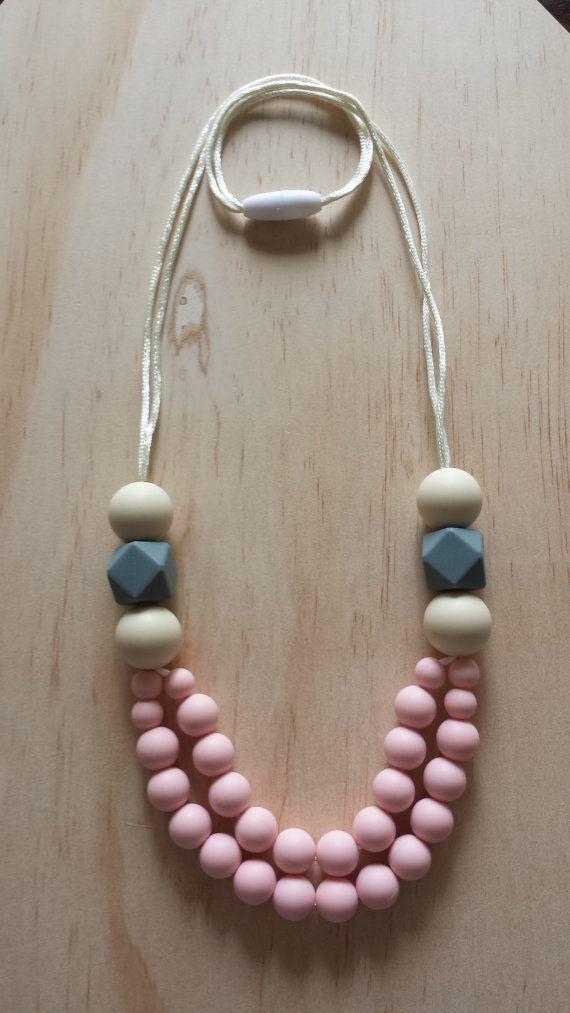 Collar de silicona - amapola en rosa-