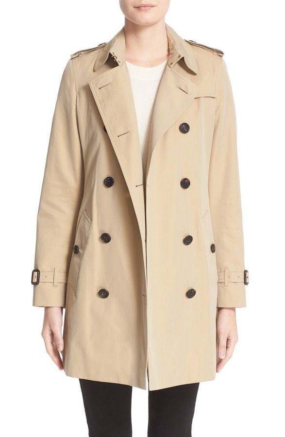 Main Image - Burberry London 'Kensington' Double Breasted Trench Coat