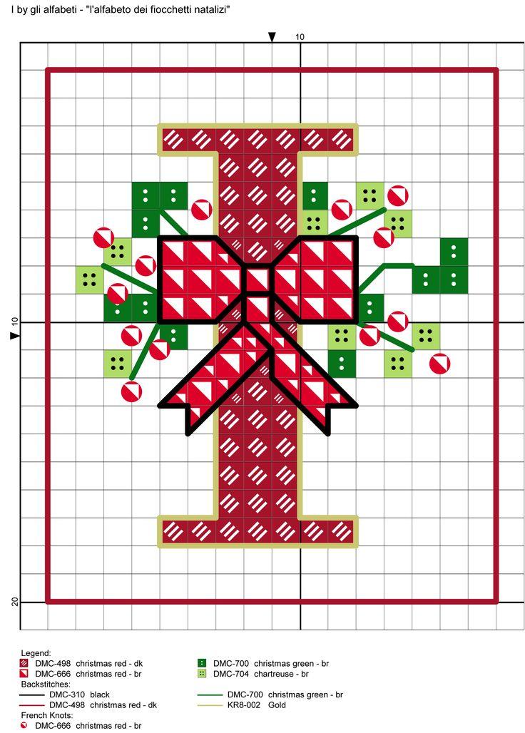 alfabeto dei fiocchetti natalizi I
