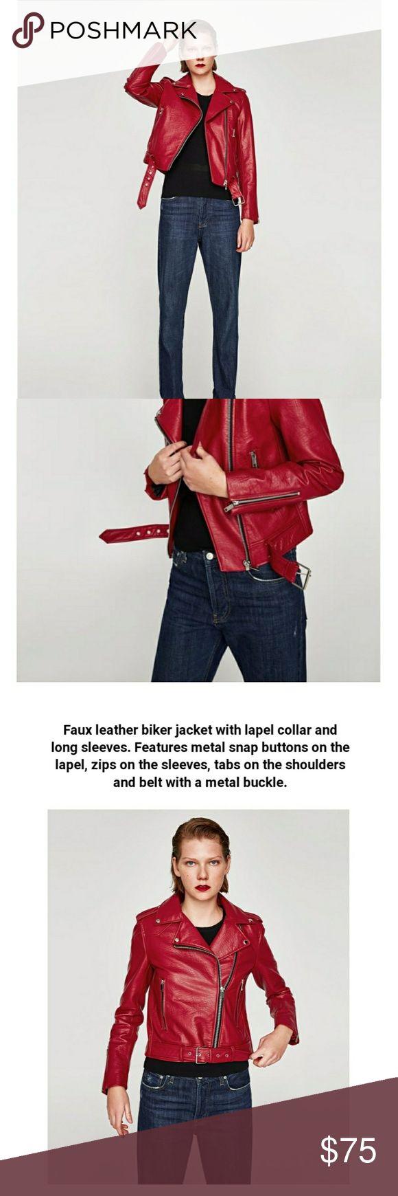 Xlarge leather effect zara jacket New. Price firm. Code bm Zara Jackets & Coats Blazers