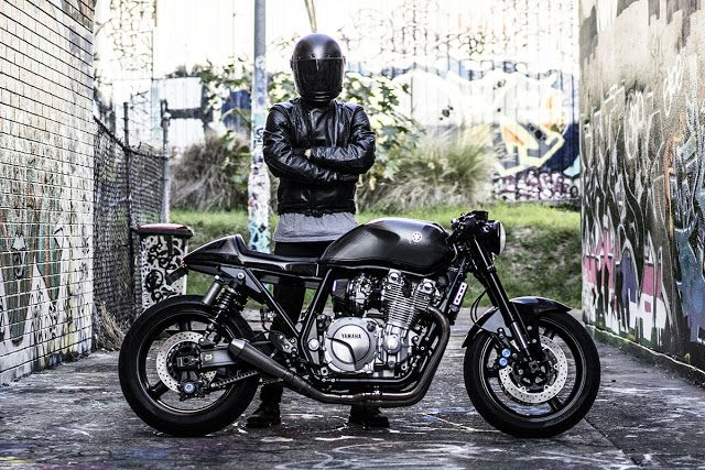 The Brute - Jamie Yamaha XJR1300 Cafe Racer via returnofthecaferacers.com