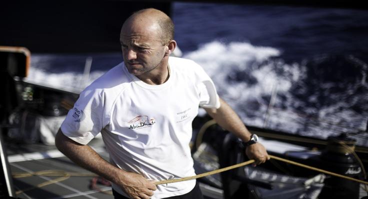 Skipper Ian Walker pulling his weight!