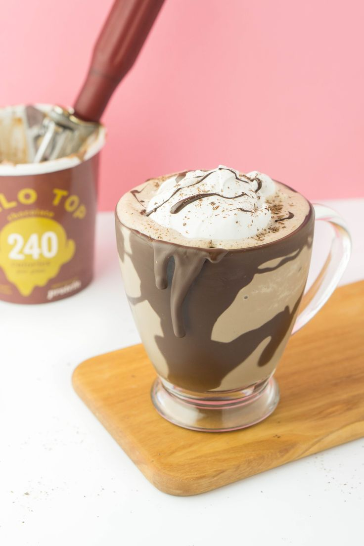 Enjoy this low calorie frozen hot chocolate!
