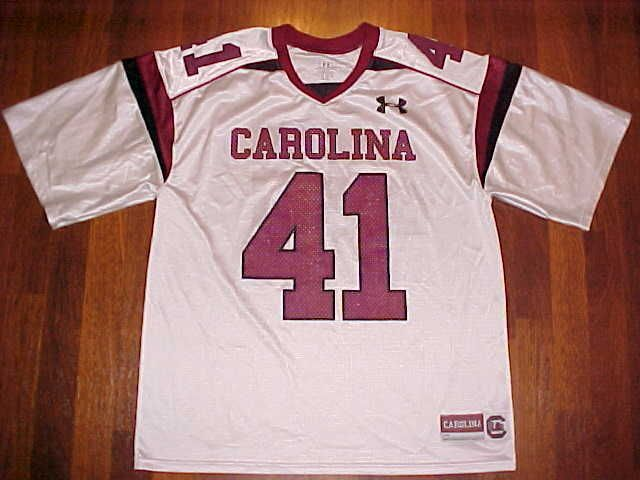 Under Armour NCAA SEC South Carolina Gamecocks #41 Garnet White Football Jersey