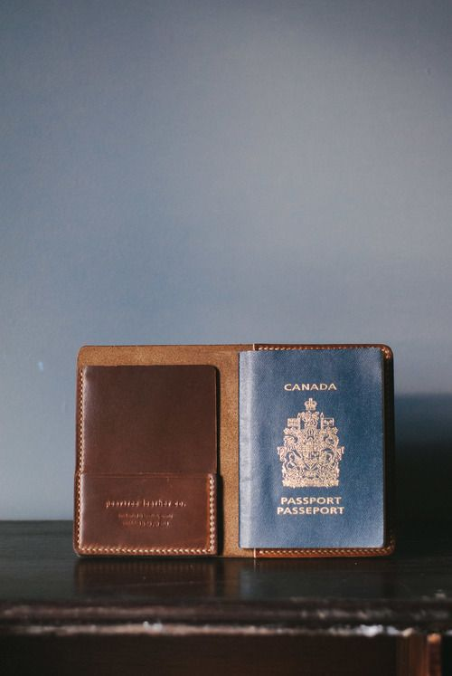 Peartree Leather Co. - Handmade Passport Cover