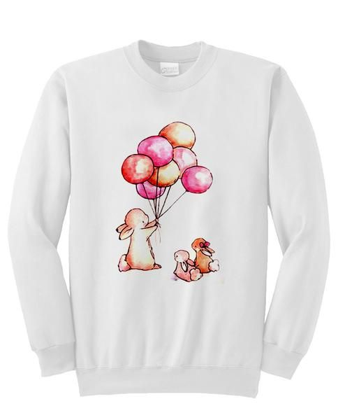 balloon & rabbit sweatshirt