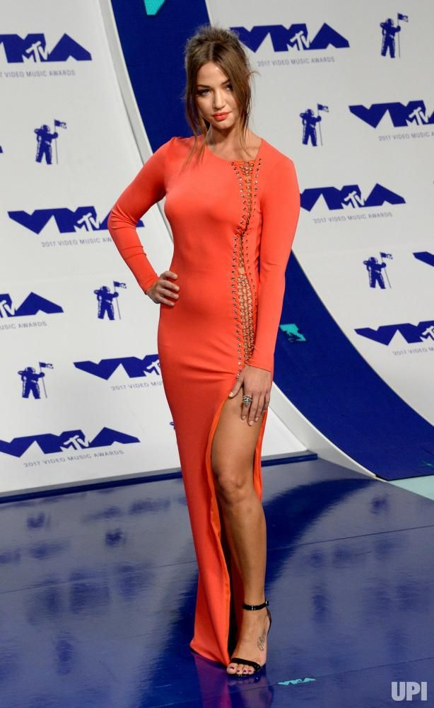 Erika Costell arrives for the 34th annual MTV Video Music Awards at The Forum in Inglewood, California on August 27, 2017. Photo by Jim…