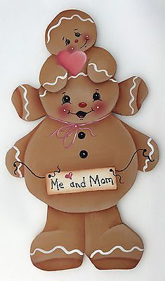 HP GINGERBREAD FRIDGE MAGNET me and mom
