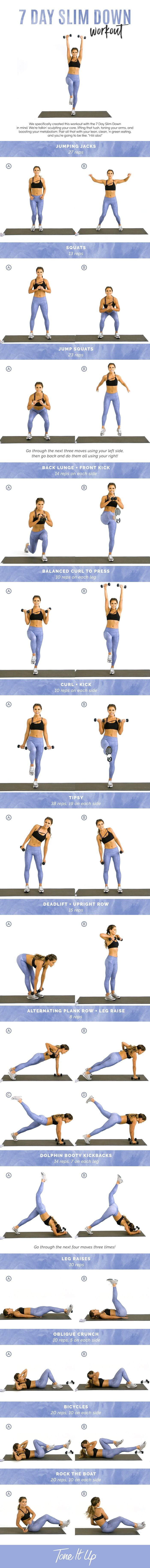 New 7 Day Slim Down Workout on ToneItUp.com!