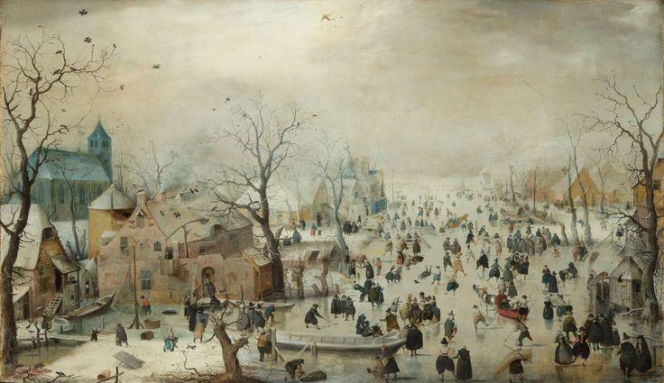 Winter Landscape with Ice Skaters, Hendrick Avercamp, ca. 1608