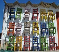 & more mexican chairs - come sit awhile and visit www.mainlymexican.com #Mexico #Mexican #chair