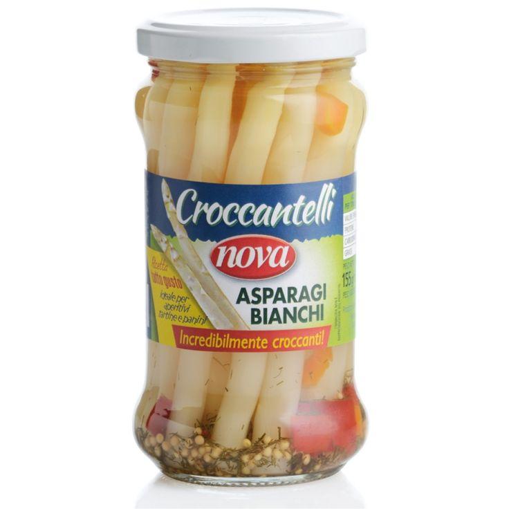 Nova Asparagi bianchi croccanti. Kruche białe szparagi. Crispy white asparagus. www.del-italy.eu