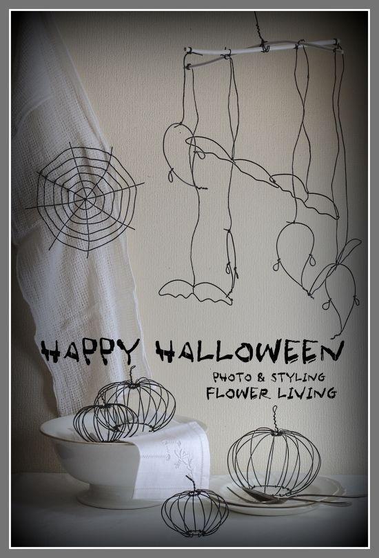 100円ワイヤーが大活躍!ハロウィン飾りに手づくりモビール❤ | 大人可愛い暮らしのアイデア
