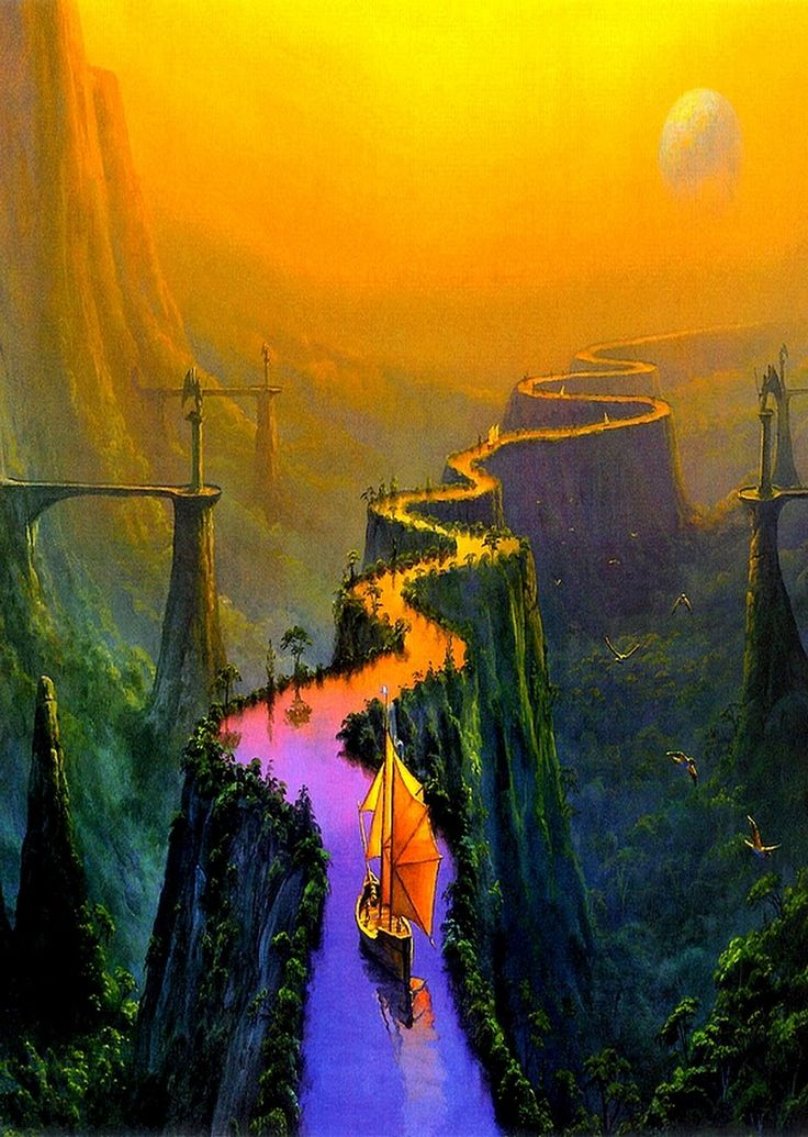 To travel in the Network, the main road is an elevated river that goes north to south. Other ways like flying creatures handled by the families or underground tunnels are less safe.