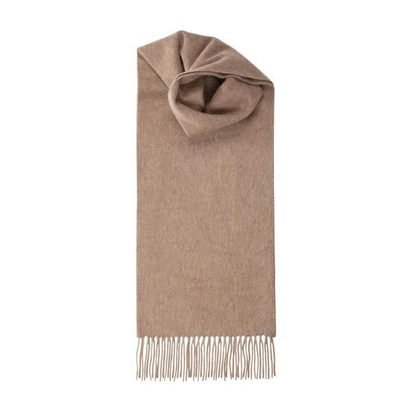 Cashmere Scarf in Light Brown