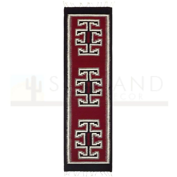 Sunland Home Decor: Premium Zapotec Wool Runner - 16in x 5ft - New Middle Earth