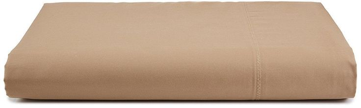 Calvin Klein Bedding Florence Stitch 500TC King Flat Sheet Reed Beige