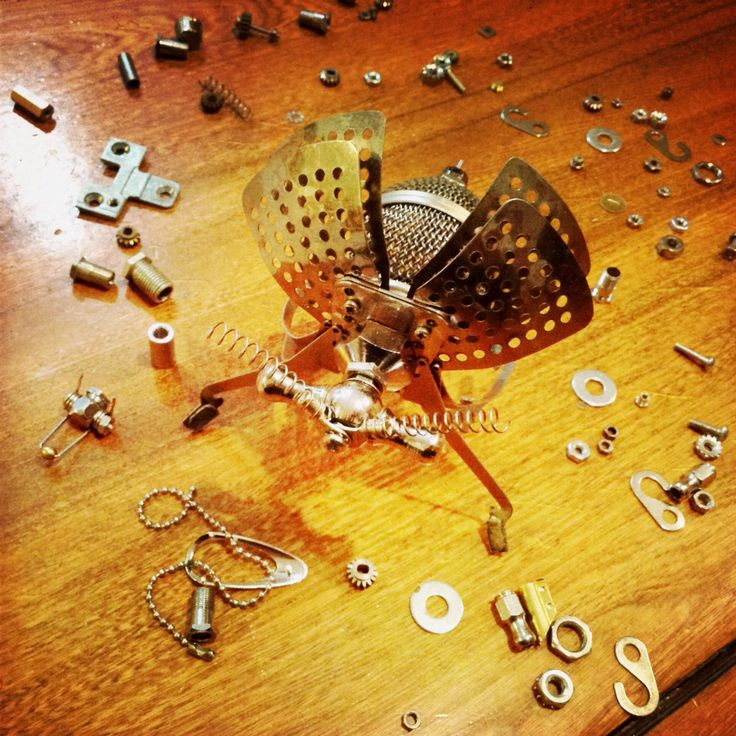 So many pieces to try! Found object assemblage insect.
